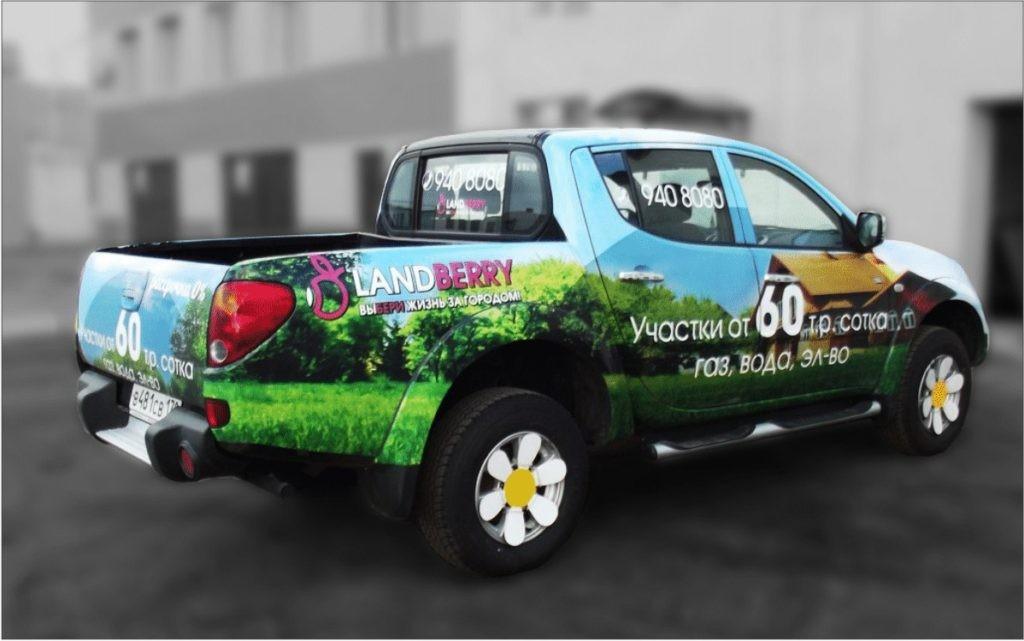 Реклама на авто landberry mitsubishi l200
